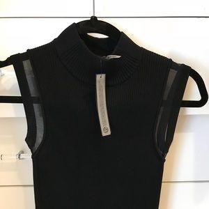 Black sweat mock turtleneck- fitted